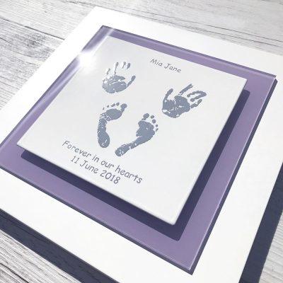Angel baby commemorative keepsake handprints & footprints baby loss stillborn