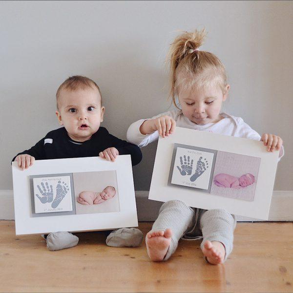 Newborn Baby keepsake frame handprints & footprints