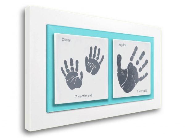 Siblings Baby keepsake frame handprints & footprints