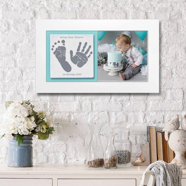 Baby keepsake frame handprints & footprints