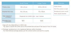 Baby Keepsake Frame handprints footprint and baby photo