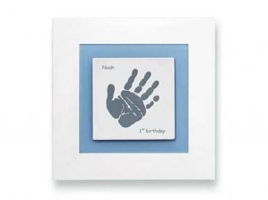 Baby handprint keepsake