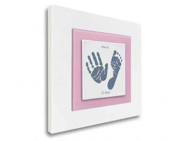 enamel baby handprints and foorprints keepsake