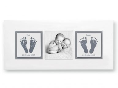 twins baby keepsake handprints footprints