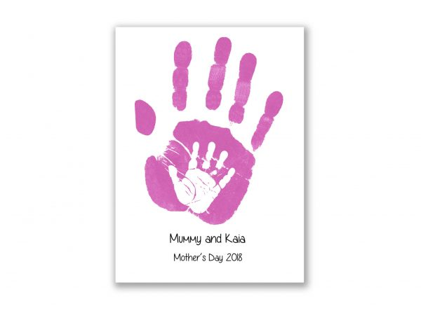 Mother's Day personalised handprint card baby handprint