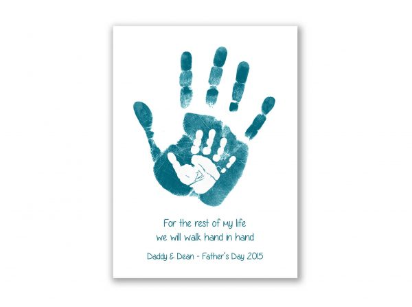 Father's day personalised handprint card baby handprint