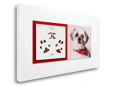 Pet dog keepsake paw prints