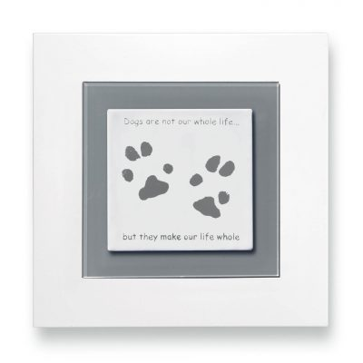 Pet paw prints enamel keepsake frame