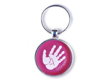personalised handprint keyring keepsake