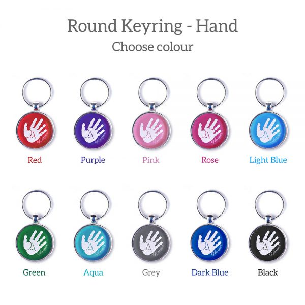 Personlaised keyring with handprint