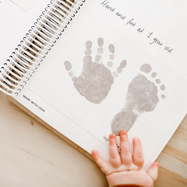 baby hand and foot print in folder