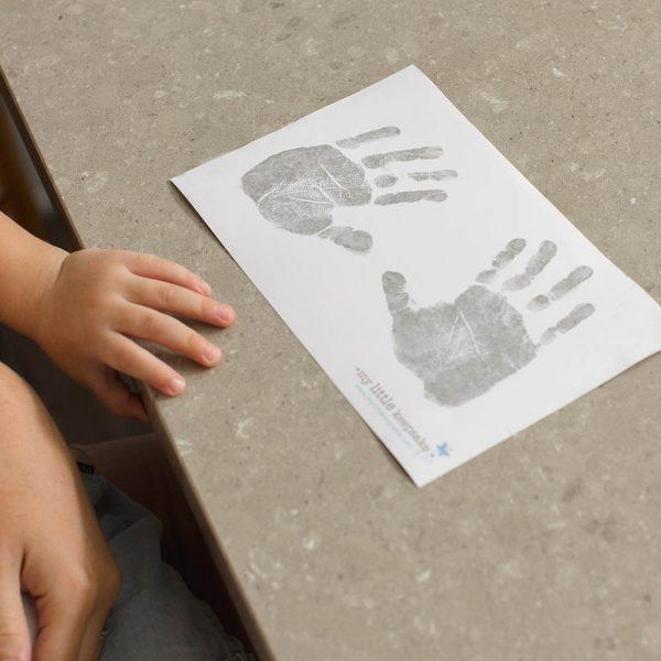 baby inkless handprint