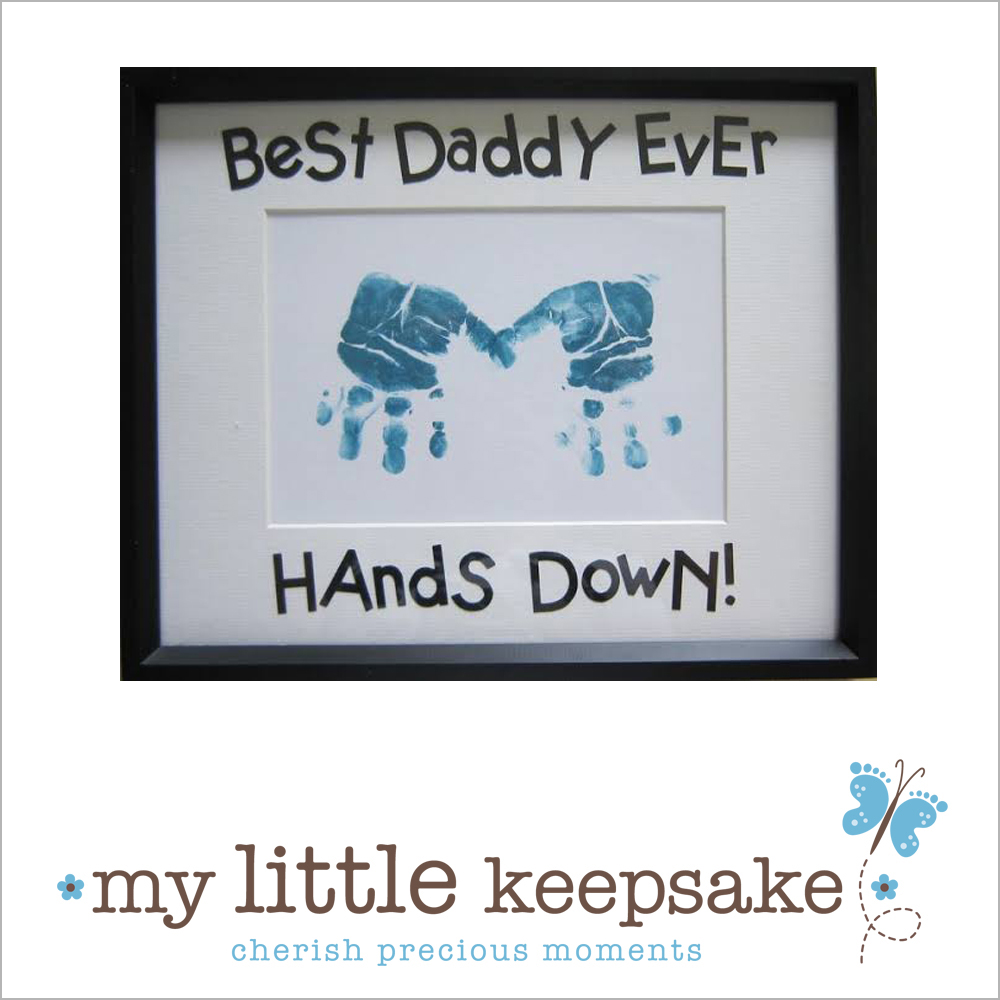 Father's Day handprints Best Daddy Ever Hands Down