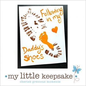 Father's Day footprint card gift idea