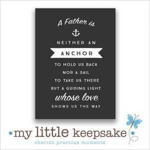 Father's Day poem quote gift idea