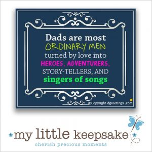 Fathers Day poem quote gift idea