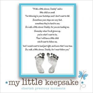 fathers day footprint poem quote