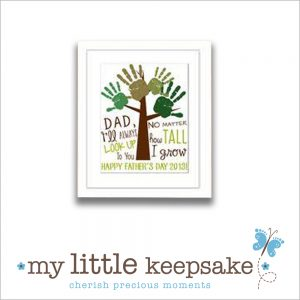 Father's Day handprint family tree gift card idea