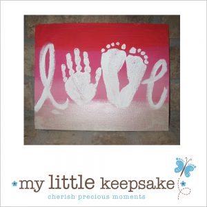 Father's Day handprint & Footprint gift idea card Love