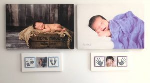Enamel baby handprint & footprint keepsake Sydney photographer