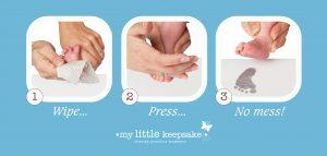 Inkless Print Kit baby footprint baby handprint