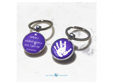 personalised handprint footprint keyring keepsake