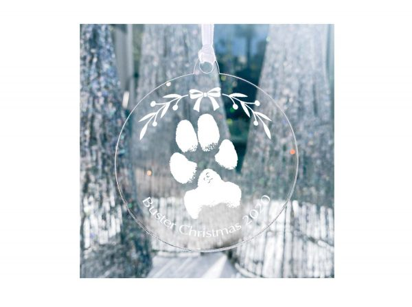 Personalise pet print Keepsake Christmas decoration