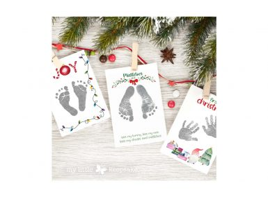 baby mistletoes christmas keepsake inkless print kit handprints footprints