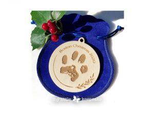Paw Print pet Christmas decoration