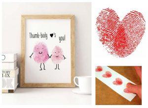 Thumb body loves you finger print heart