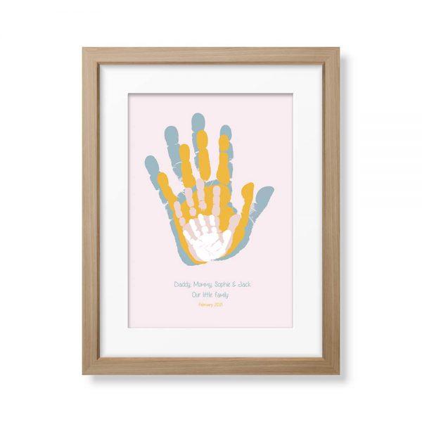 Framed Family Handprints Keepsake