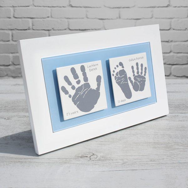 Siblings Newborn Baby keepsake frame handprints & footprints