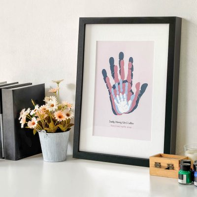Framed Family Handprints Keepsake